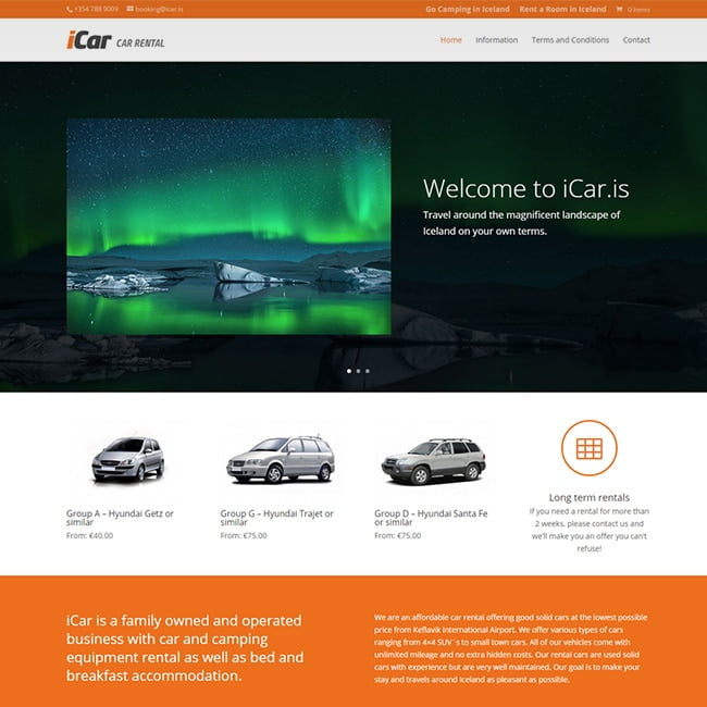 iCar - Car Rental Website